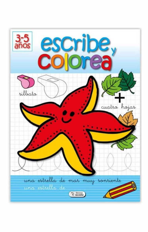 escribe y colorea