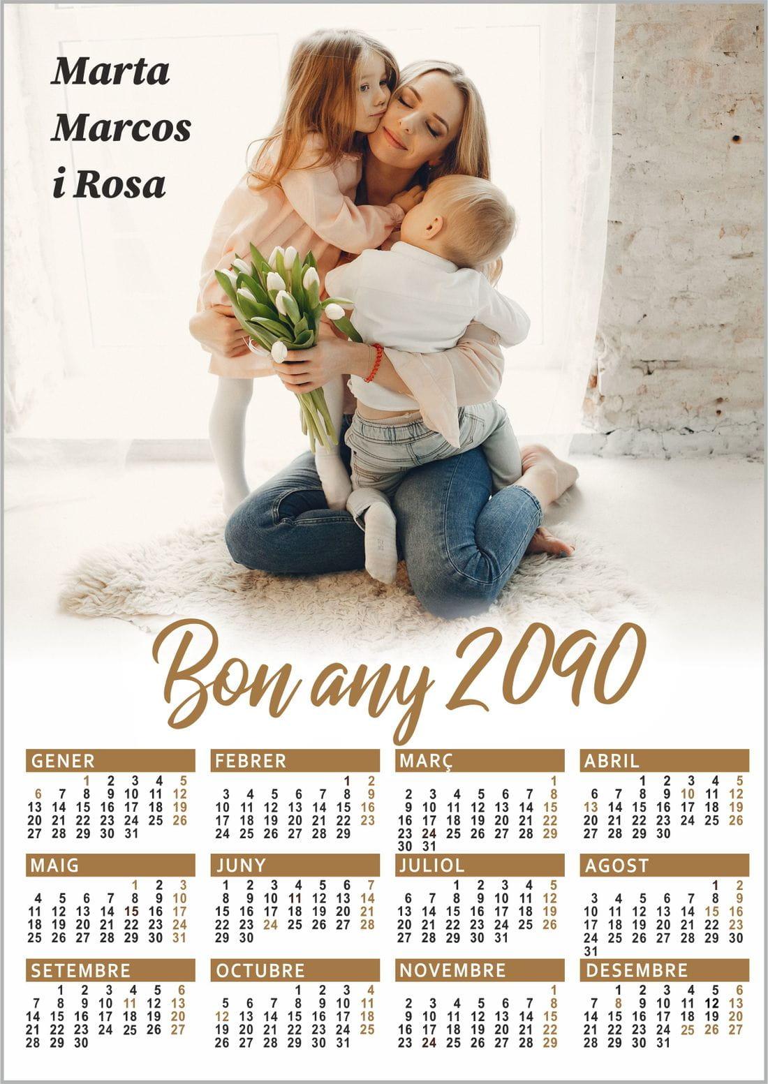 calendari paret