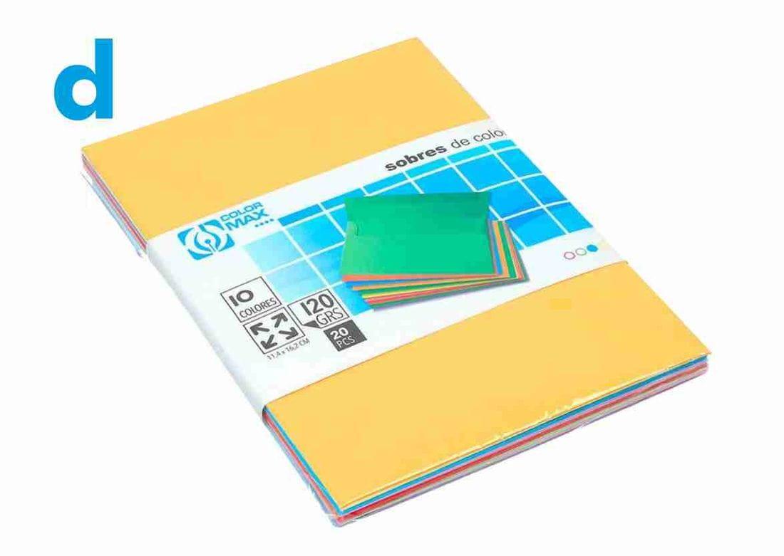 sobres de colors