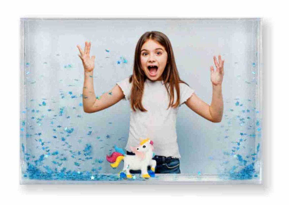 marco de fotos unicornio