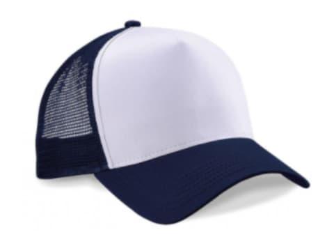 Blanco / Azul oscuro (marino)