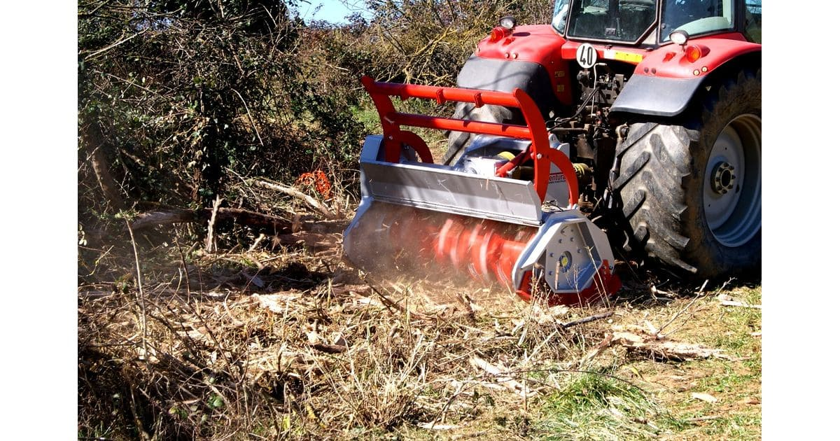TFVMF - JUBBA - Forestry mulcher with fix vidia hammers for