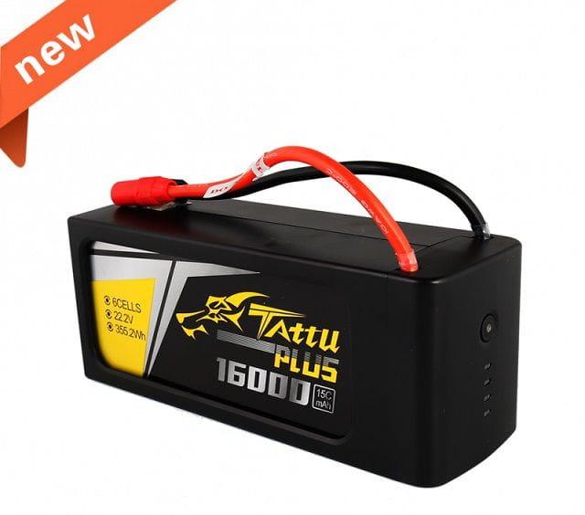 GensAce - Tattu PLUS 16000mAh 22.2V 15/30C 6S1P Bateria
