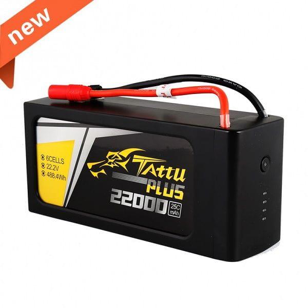 GensAce - Tattu PLUS 22000mAh 22.2V 15/30C 6S1P Bateria