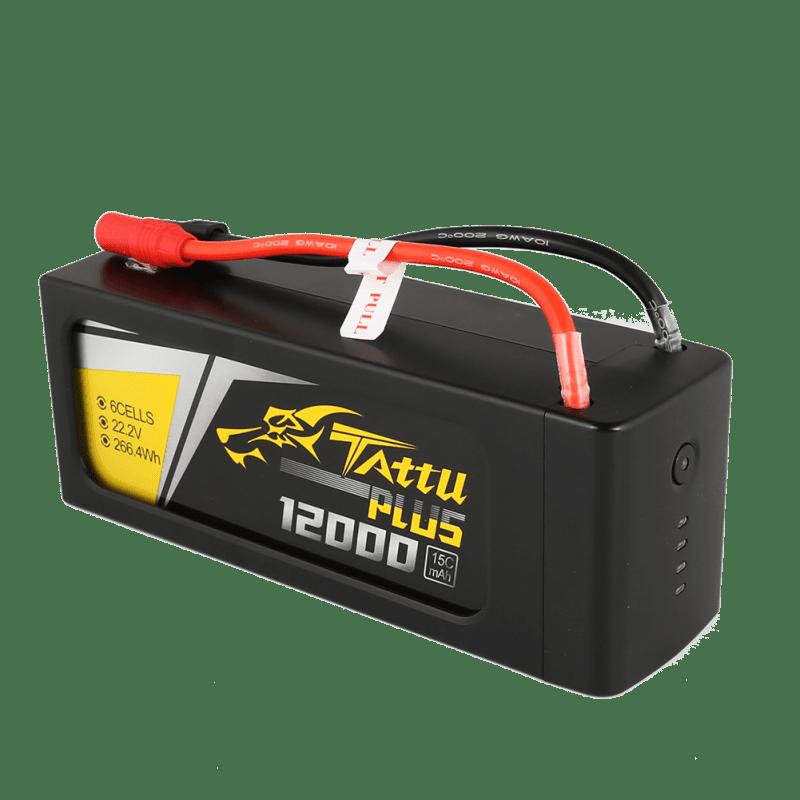 Tattu Plus 12000mAh 22.2V 15C 6S1P Lipo Smart Battery Pack