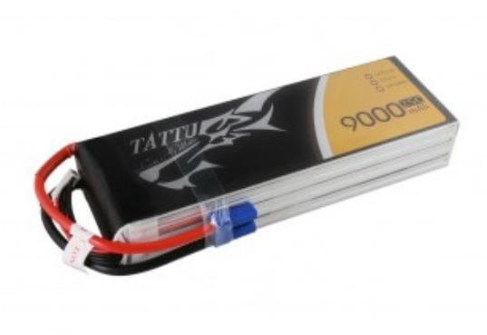 GensAce - Tattu 9000mAh 22.2V 25/50C 6S1P Bateria Lipo
