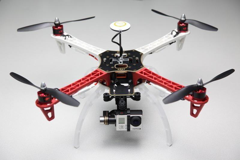 F450 Dji Kit + H3 2D + Naza M V2 (GPS) + Tren aterrizaje