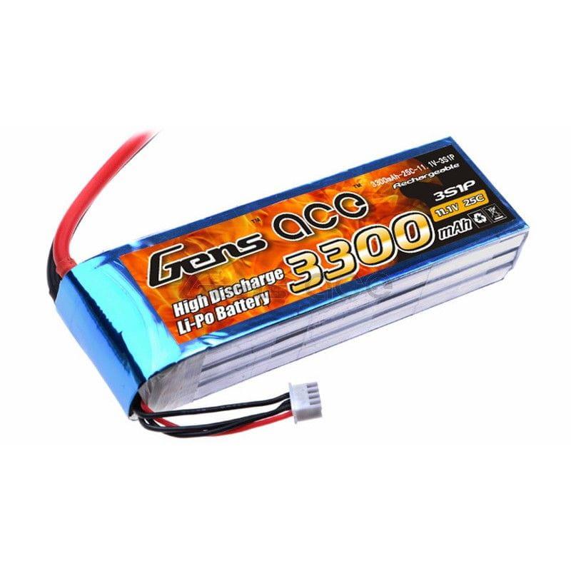 Gens Ace 3300mAh 11.1V 25/50C 3S1P Bateria Lipo