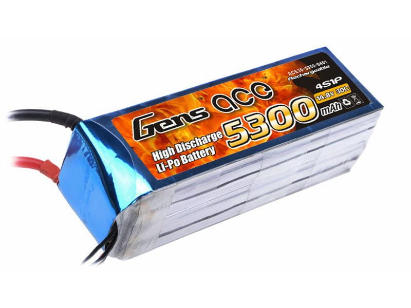 Gens Ace 5300mAh 14.8V 30/60C 4S1P Bateria Lipo
