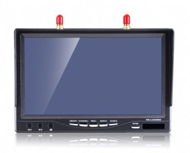 Pantalla 7'' 800x480HD RX 5.8g 32CH Dual Diversity