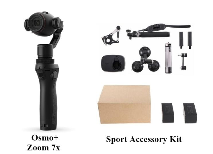 DJI OSMO+ Zoom 7x & Pack Sport Accessory kit