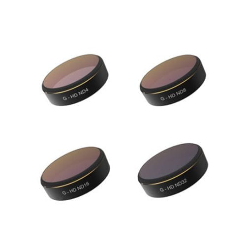 PGYTECH Set de Filtros ND4, ND8, ND16, ND32 para Phantom 4