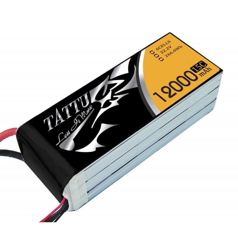 GensAce - Tattu 12000mAh 22.2V 25/50C 6S1P Bateria Lipo