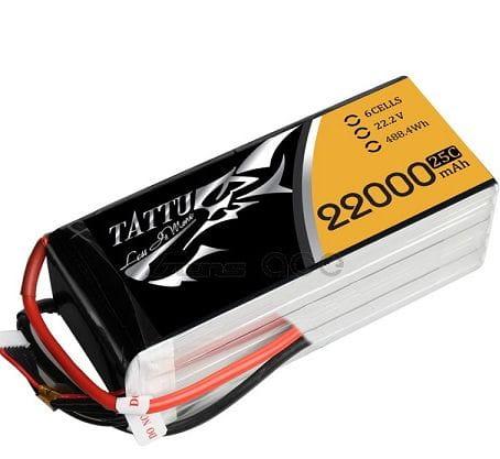 GensAce - Tattu 22000mAh 22.2V 25/50C 6S1P Bateria Lipo