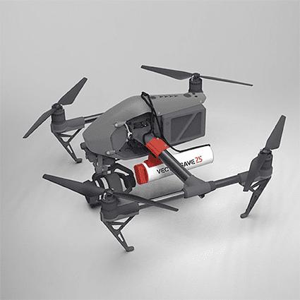 Paracaídas VectorSave 25 para dron DJI Inspire2