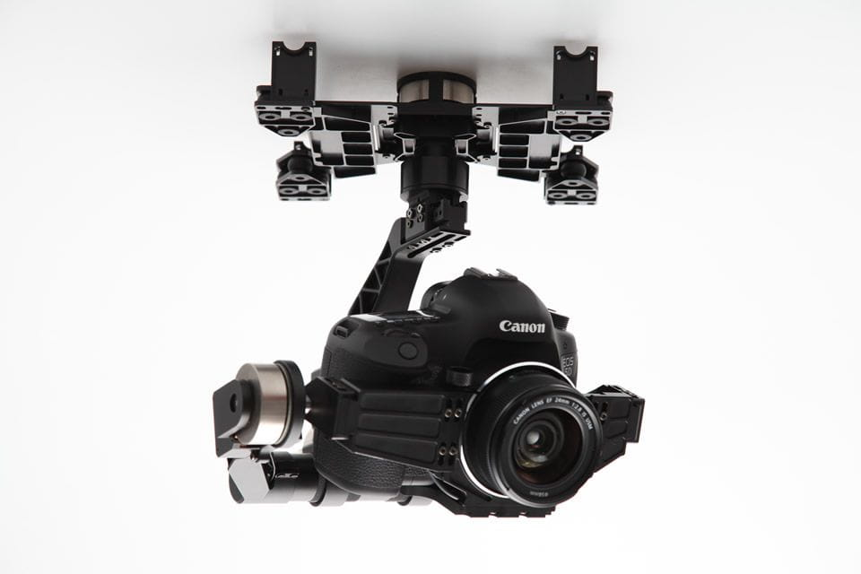 Zenmuse DJI Z15 3-axis Gimbal Profesional Canon 5D Mark II MULTICOPTERO