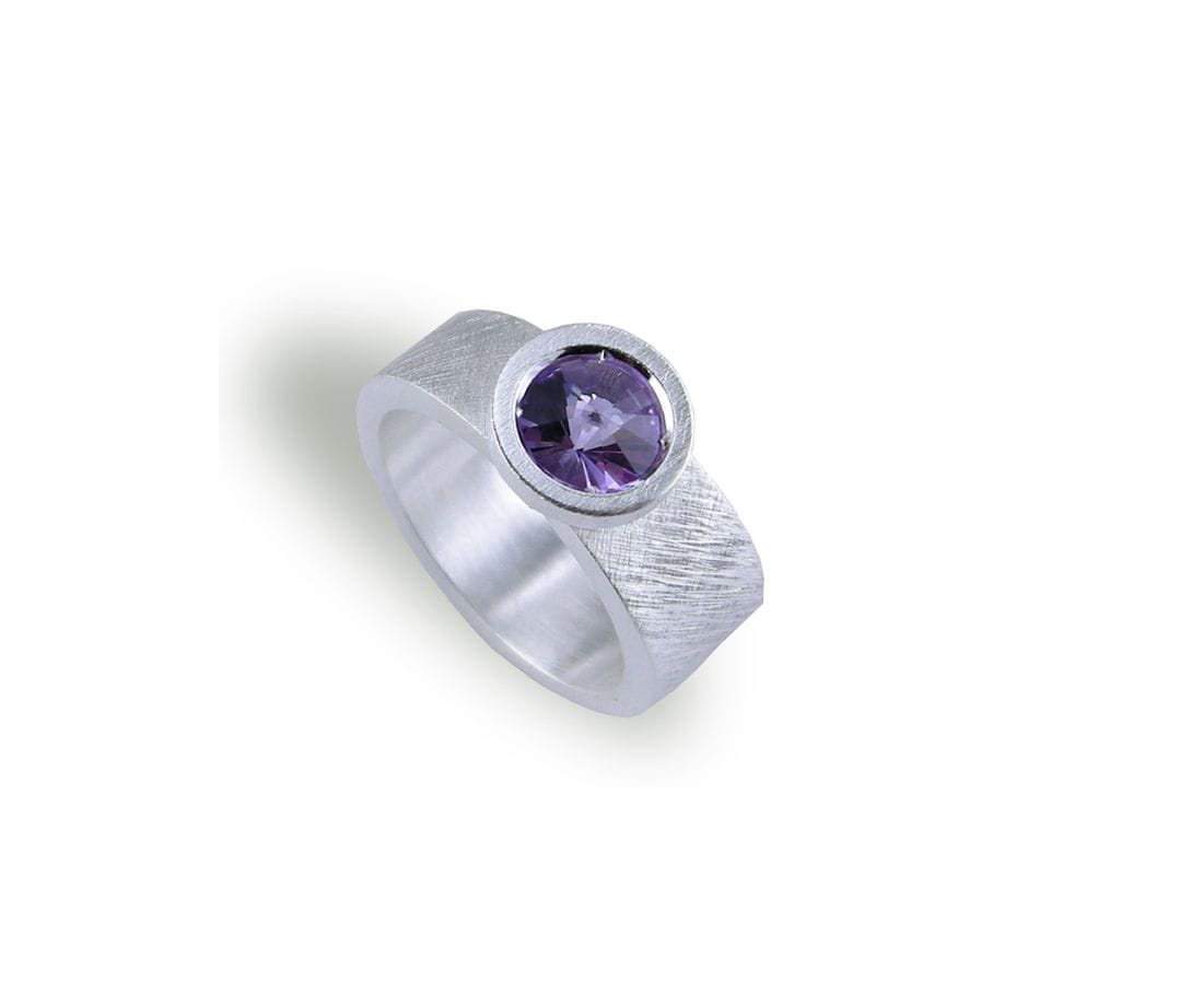 Silver ring with Amethyst VLADIMIR