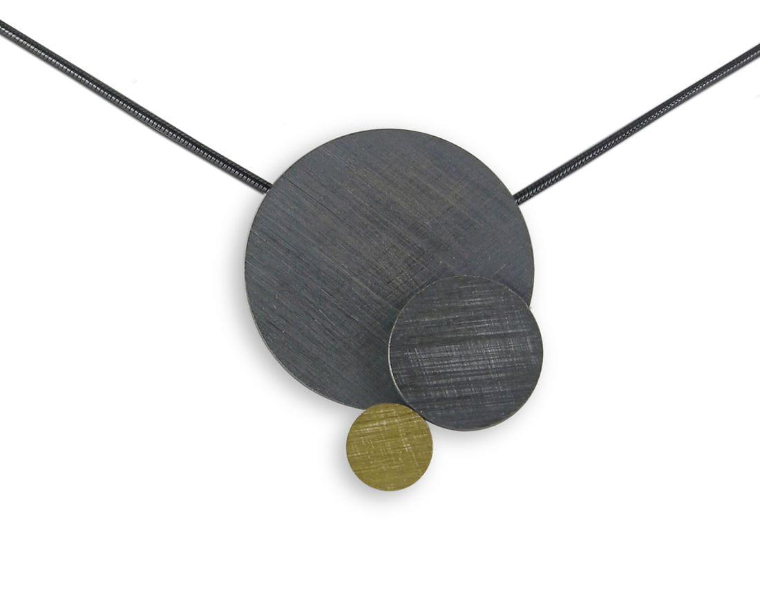 VLADIMIR colgante de plata y oro