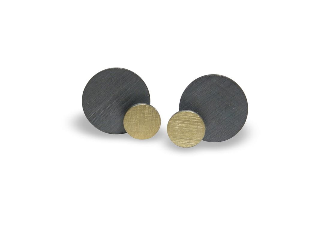VLADIMIR sterling silver and yellow gold earrings