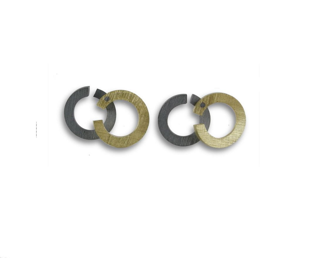 VLADIMIR sterling silver and gold earrings