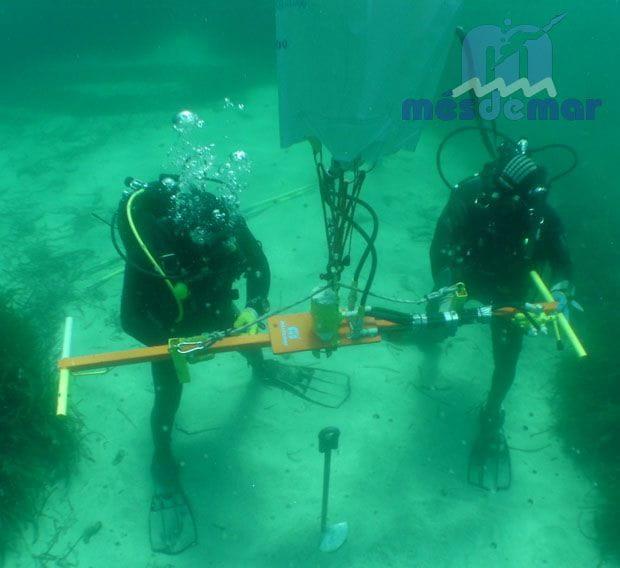 Màquina hidràulica per la instal·lació d'ancoratges ecològics