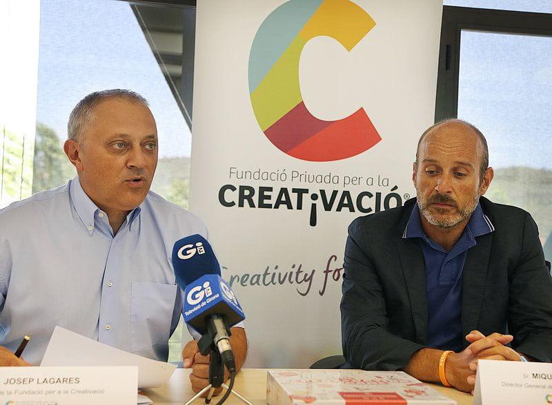Josep Lagares i Miquel Àngel Oliva Foto de Manel Lladó