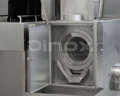 Separador de residuos sólidos y cesto recogedor opcional.