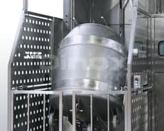 Подъёмники для ввода и вывоноса контейнеров.