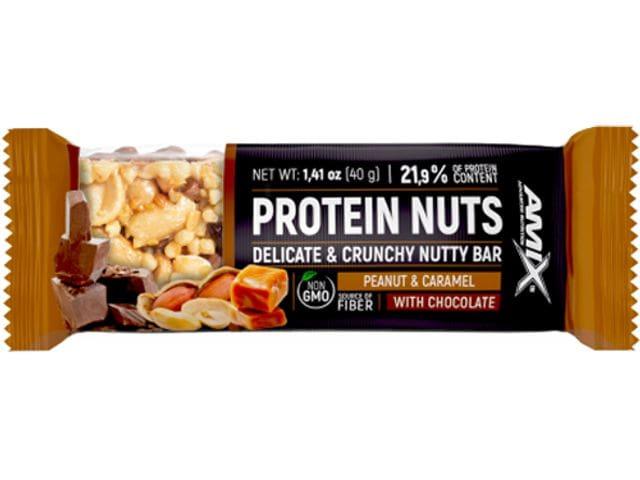 Barrita Protein Nuts Bar 1 x 40 gr Sabor Cacahuete y Caramelo