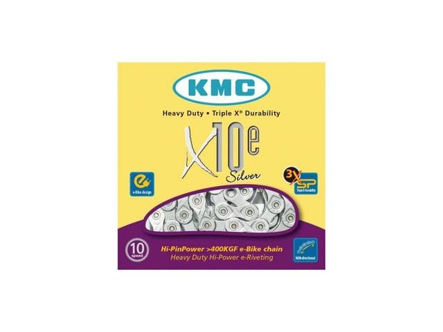 Cadena KMC X-10E Silver 114 eslabones para e-bikes