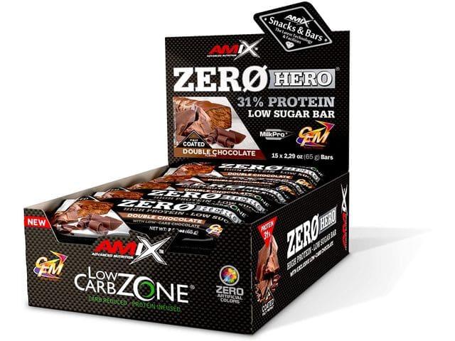 Amix Zero Hero 31% Protein Bar Cobertura Total 15 barritas x 65 gr