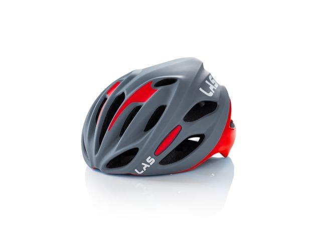 LAS COBALTO Helmet - GRIS MATE/ROJO
