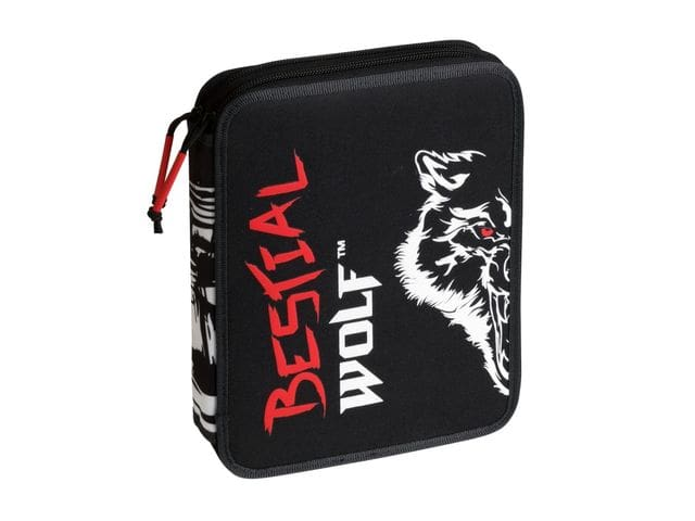 Trousse à crayons double crayons BESTIAL WOLF