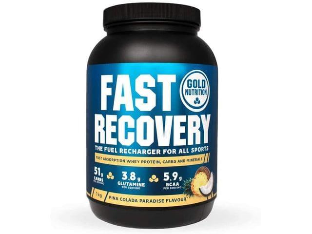 Goldnutrition Fast Recovery 1kg, Piña Colada, Bebida de Recuperación