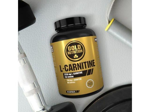 L Carnitina de Gold Nutrition complemento alimenticio indicado para la definición abdominal y la eliminación de grasas