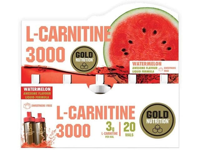 Goldnutrition L-Carnitina 3000mg, 20 viales - Sabor Sandía