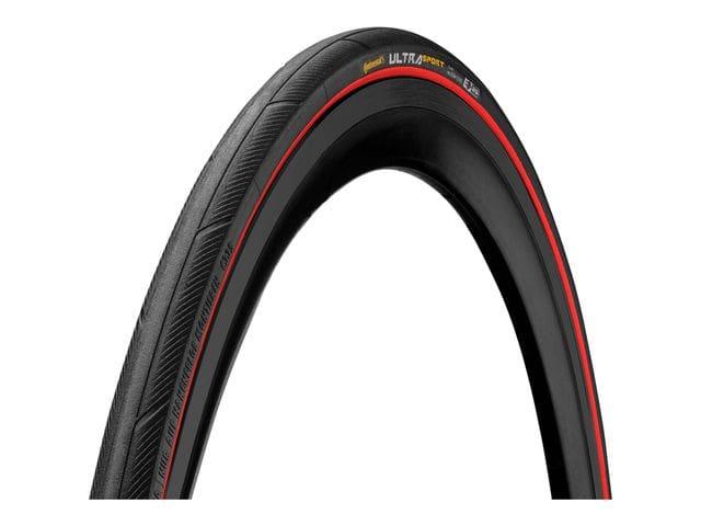 Continental Ultra Sport III Cubierta 700X25C Negro Rojo