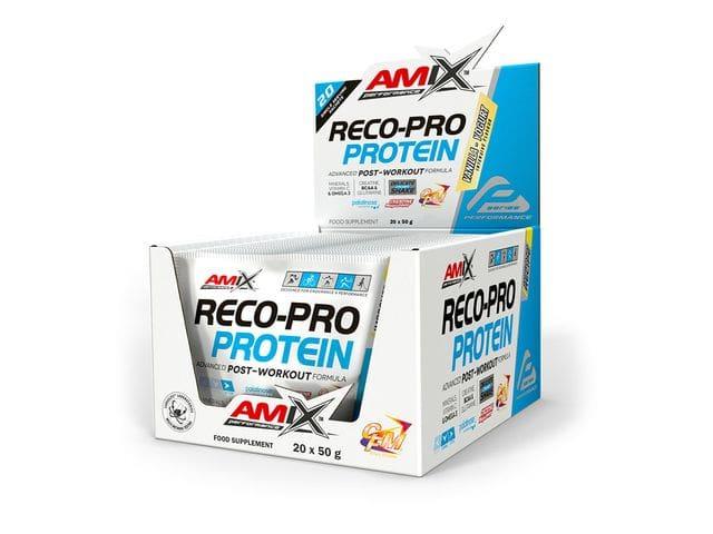 Sobres unidosis Amix Reco-Pro Recovery sabor yogurt de vainilla 50 gr