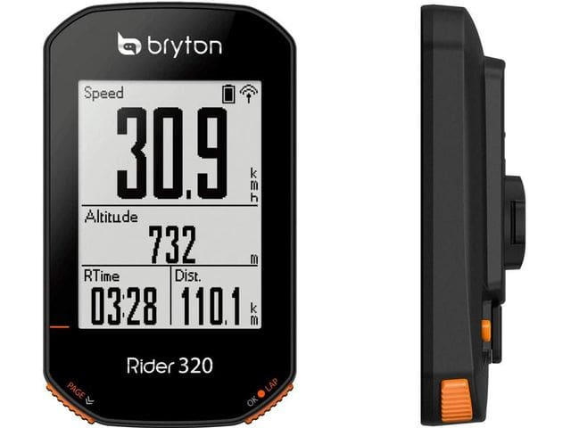Bryton Rider 320 T con sensor de cadencia y sensor de frecuencia cardíaca