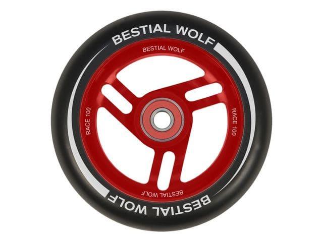 Roue bestiale Wolf RACE avec noyau en caoutchouc noir