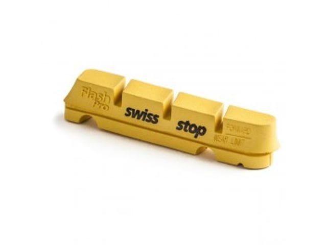 Juego zapatas freno amarillas Swissstop Flash Pro sistema Shimano/Sram