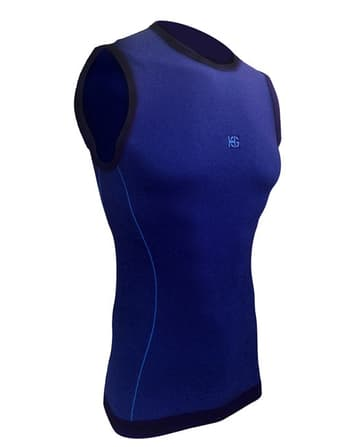 Samarreta ultralleugera microperforada SportHG sense mànigues 8331.Color Royal