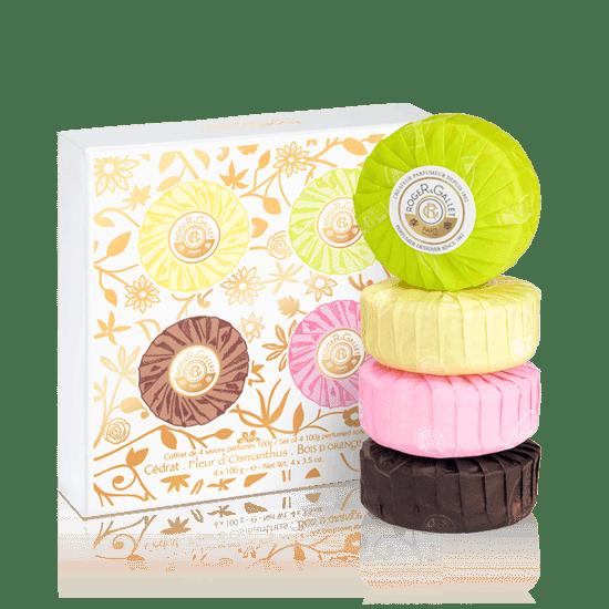 Savons Parfumés (Cédrat, Fleur d'Osmanthus, Bois d'Orange et Rose)