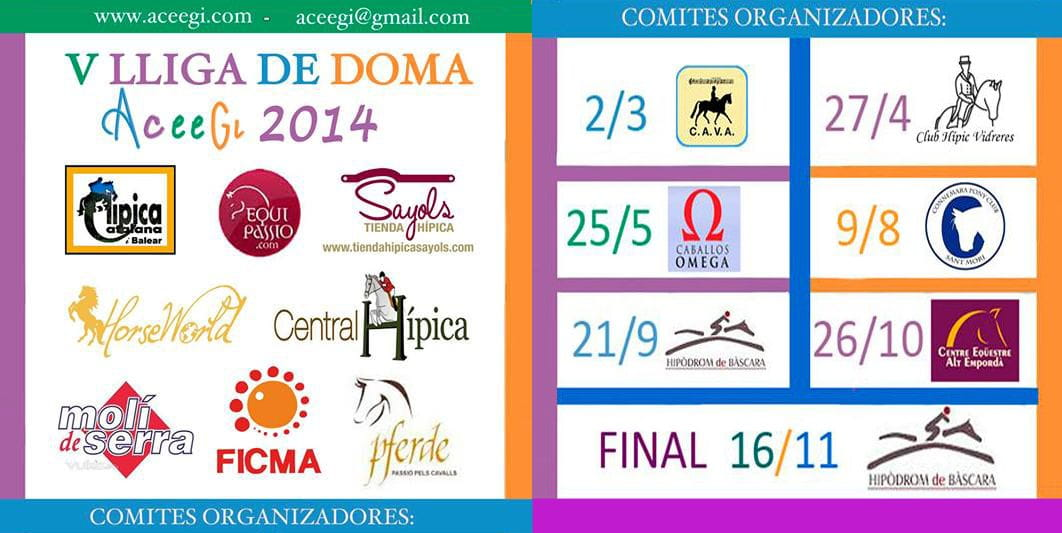 CALENDARI LLIGA DE DOMA 2014