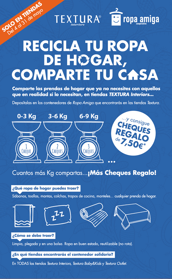 Recicla tu ropa de hogar, comparte tu casa