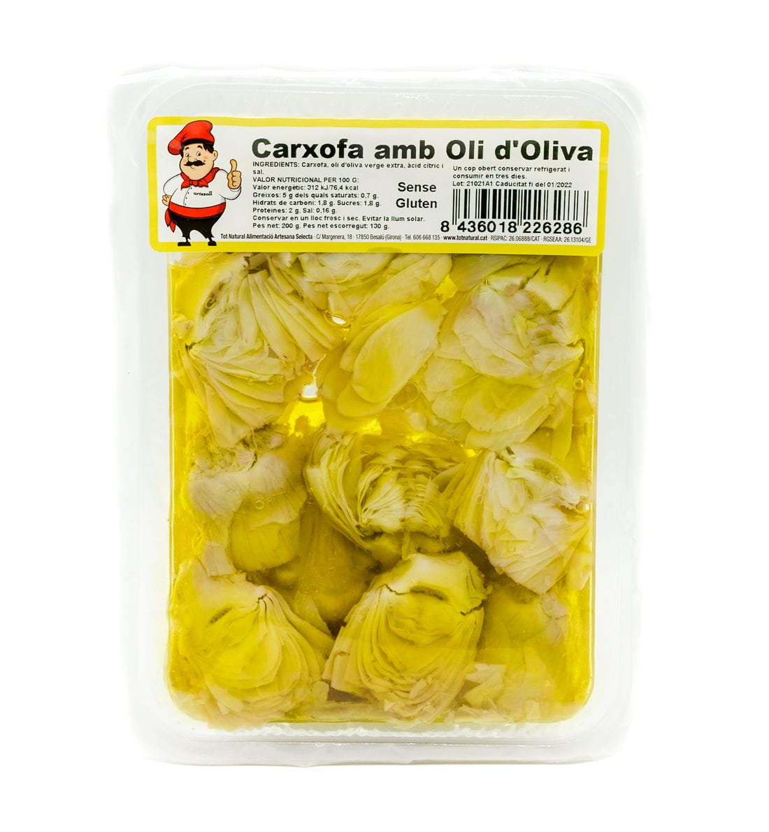 Carxofa Oli d'Oliva 200 gr