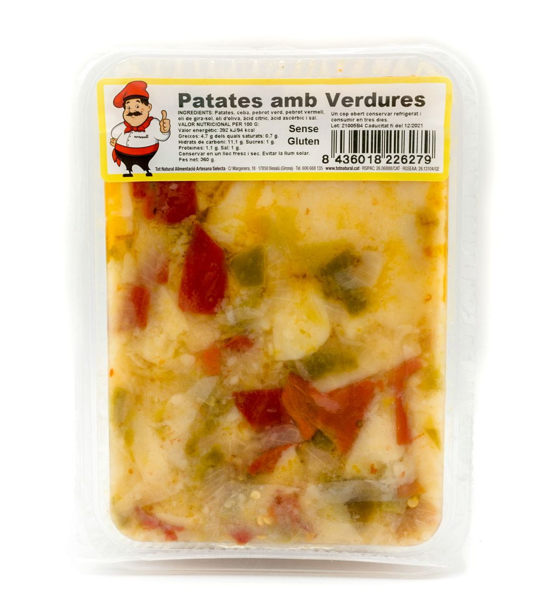 Patates amb Verdures