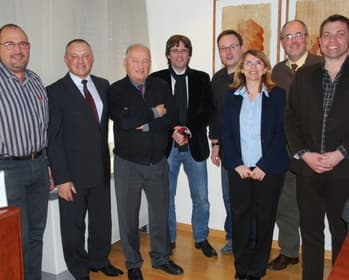 Mayor of Girona together with the responsibles of the project