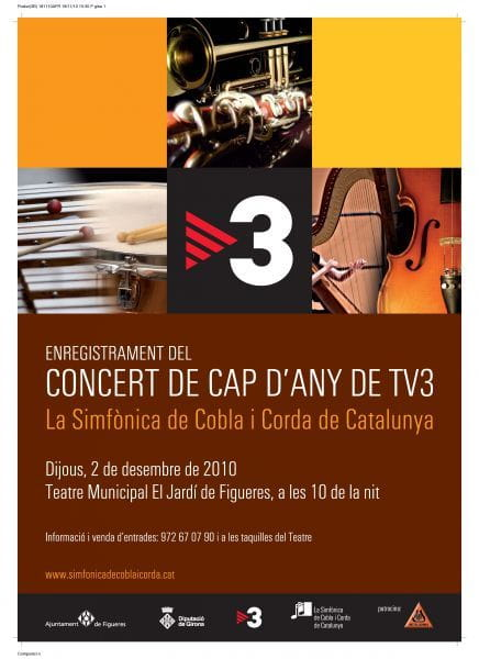 Concierto de la la Simfònica de Cobla i Corda de Catalunya dedicado a la música catalana, por TV3.