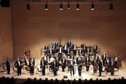 Concert given by The Cobla and String Symphony Orquestra of Catalonia in the Auditorium of Girona.